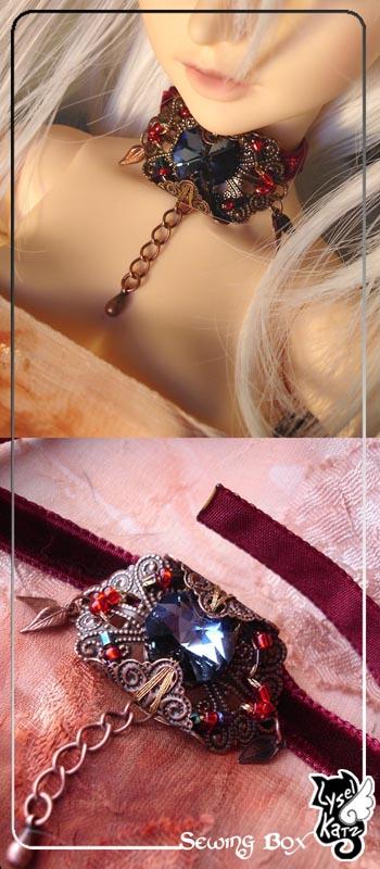 Lysel K. créations - Accessoires, Chapeau, Bijoux LyselSB_BJDparure003s