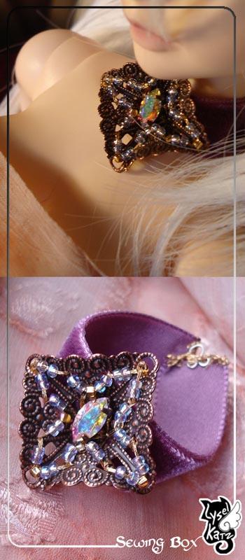 Lysel K. créations - Accessoires, Chapeau, Bijoux LyselSB_BJDparure005s