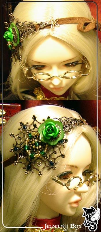 Lysel K. créations - Accessoires, Chapeau, Bijoux LyselSB_BJDparure016-rose02s