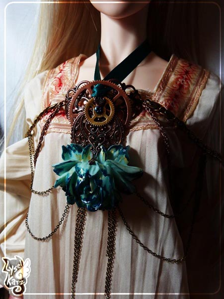 Lysel K. créations - Accessoires, Chapeau, Bijoux LyselSB_FlowerDouble05s