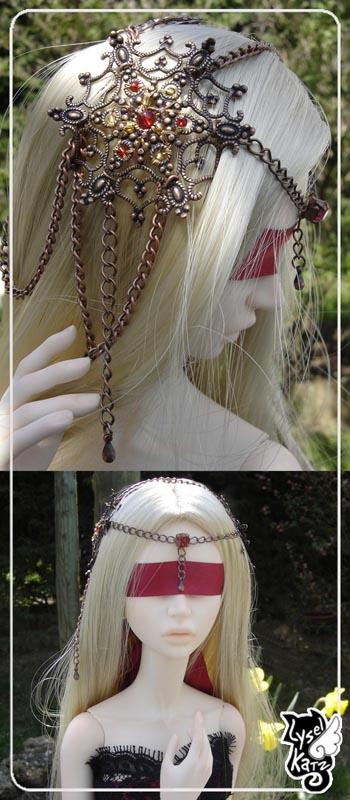 Lysel K. créations - Accessoires, Chapeau, Bijoux LyselSB_camelia-headpiece001s