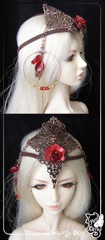 Lysel K. créations - Accessoires, Chapeau, Bijoux LyselSB_camelia-headpiece008Bs