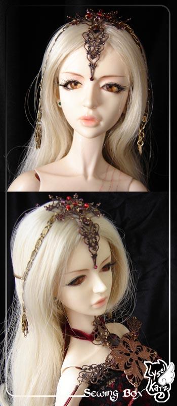 Lysel K. créations - Accessoires, Chapeau, Bijoux LyselSB_camelia-headpiece012As