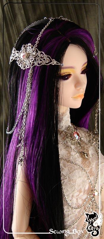 Lysel K. créations - Accessoires, Chapeau, Bijoux LyselSB_camelia-headpiece017Bs