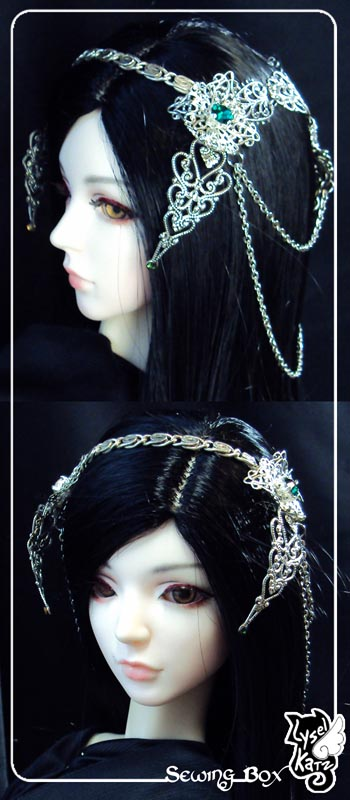 Lysel K. créations - Accessoires, Chapeau, Bijoux LyselSB_camelia-headpiece020Cs