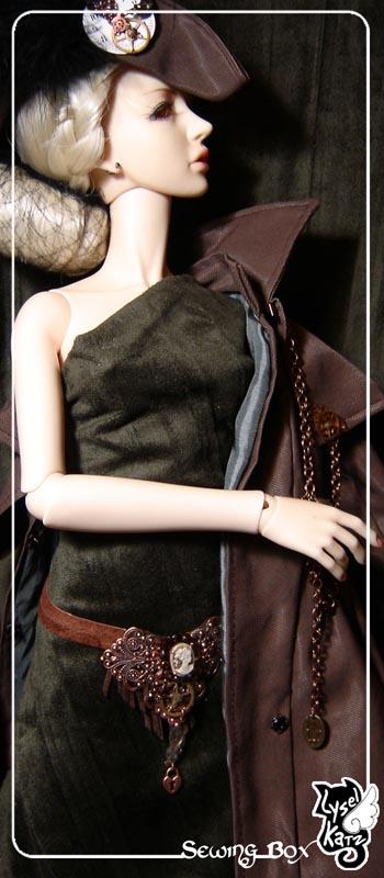 Lysel K. créations - Accessoires, Chapeau, Bijoux LyselSb_camelia-steampkC09s